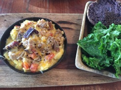 Goofy's Cafe- The Taro English Muffin was amazing.