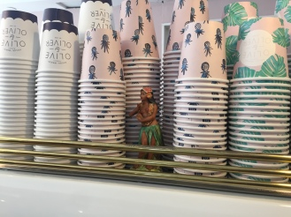 Little Hula Dancer Figurine at Olive & Oliver's Coffee Shop.